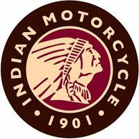 "Indian Logo Round Tin Sign, 11.75"" Diameter"