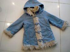manteau bleu lavande, façon daim, KIABI 5 ans