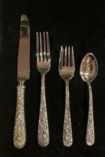 Kirk  Repousse sterling silver flatware set, 4 settings 4 pieces per setting