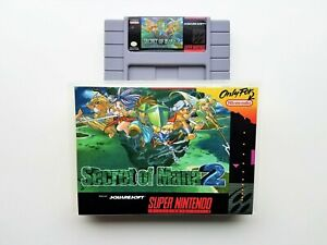 Secret of Mana 2 Case / Game SNES Super Nintendo RPG (English Translation) USA