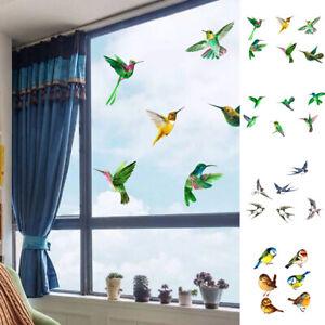 6 Bird Silhouettes Protective Warning Sticker Windows Wall Door Glass Decal