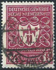 """Gewerbeschau MiNr. 199a Infla Berlin und Farbe """"a"""" geprüft + gestempelt 7.12.22"""