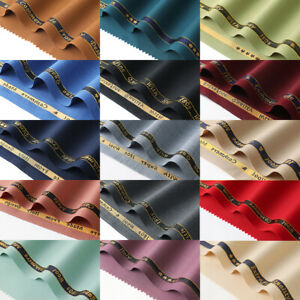 Plain color high quality combed wool worsted fabric for suit fancy suiting,WF258