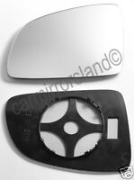 Left Passenger Wing Mirror Glass Replacement CONVEX Vauxhall MERIVA A 2003-2010