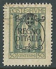 1924 FIUME USATO REGNO D'ITALIA 50 CENT - F5.6