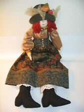 "Beautiful Handmade Hand Painted Cloth Girl Doll - 18"""