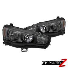 "For 08-17 Mitsubishi Lancer ""DARKEST SMOKE"" Factory Style Headlight Lamp PAIR"