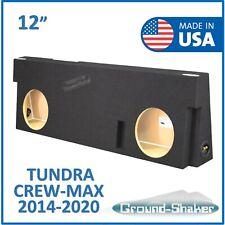 Dual 10 Vented Subwoofer Sub Box Enclosure for 2014-16 Toyota Tundra Crew Max