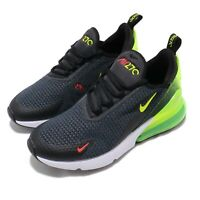 Nike Air Max 270 RF GS Grey Black Volt Kid Women Running Shoe Sneaker AV5141-001