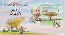 Unaddressed Jersey FDC First Day Cover 2003 Aviation History VIII Stamp Sheet