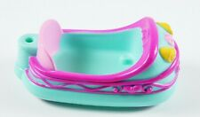 """My Little Pony Bumper Car Blue 3.25"""" long 1.5"""" high for small Mlp Ponies"""