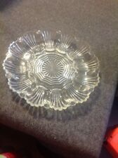 Vintage Retro American Clear Glass Deviled Egg Plate Platter Wave Scallop