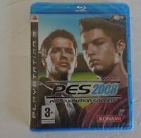 Pro Evolution Soccer 2008 (PS3) rare blue Ray disc konami