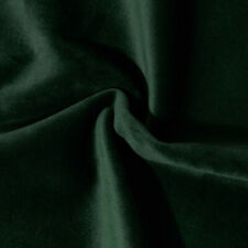 Sample Of Solid Heavy Upholstery Soft Velvet Fabric Color Forest Green