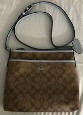 New Women's Coach F29210 Signature File CrossBody Bag