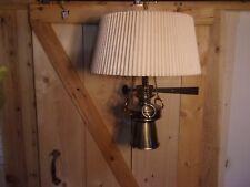 Vintage Retro Nautical Marine Large Brass Swag Ceiling Hanging Lamp Mid Century