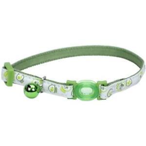 Safe Cat® Adjustable Snag-Proof Nylon Breakaway Collar, Glowing Lime