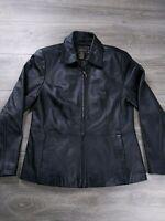Croft & Barrow Black Lambskin Zip Up Soft Stylish Leather Coat Jacket Medium M