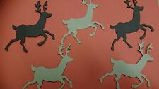 25 x REINDEER CROSSCUT DIE CUT SHAPES FOR XMAS CARD MAKING free 1st class post
