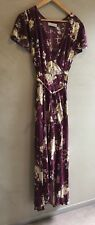 AUGUSTE the label Floral Burgundy Maxi Dress | Size 12