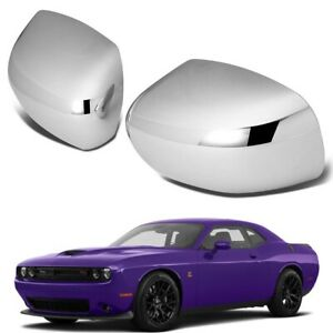 Fit 2008 2009 2010 2011-2021 Dodge Challenger CHROME Mirror Covers Overlays