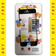 Tempered Glass Front + Back Screen Protector iPhone 5G/5S Buy 1 Get 1 Free-Black