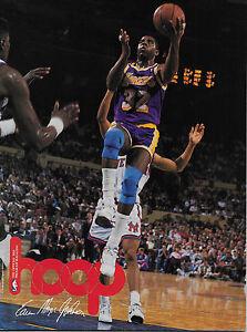 1991 Los Angeles Lakers vs Dallas Mavericks NBA program  MAGIC JOHNSON