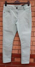G21 Denim Jeans leichter Stretch mint grün Skinny Slim Jeans Hose Pants 12