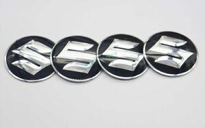 4x 56.5mm Car Accessories Hub Caps For Suzuki Wheel Center Covers Logo Emblems