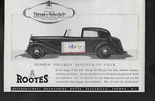 HUMBER PULLMAN SEDANCA DE VILLE ROOTS BODY BY THRUPP MABERLY 1937 AD
