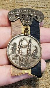 SCARCE CIVIL WAR WEST VIRGINIA HONORABLE DISCHARGE NAMED MATTHEW SURGER MEDAL