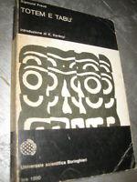 LIBRO: TOTEM E TABU' - SIGMUND FREUD - UNIV. BORINGHIERI - 1970