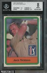 1981 Donruss Golf Jack Nicklaus #13 RC BGS 8 NM-MT Rookie PGA Two 9 Subs!