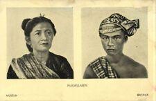 indonesia, CELEBES, Native Makassar Types (1930s) Batavia Museum Postcard