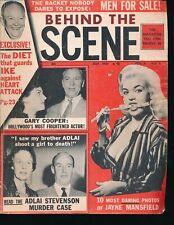 JAYNE MANSFIELD Sexy Cover July 1956 BEHIND the SCENE Gossip Magazine + Pix
