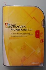 MS Visio Professional 2007 Pro 32 Bit Retail Vollversion Deutsch D87-02789