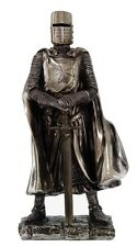 "Medieval Knight Decorative Figurine Crusader Templar Heavy Infantry Statue 7""h"