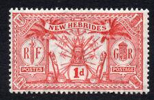 New Hebrides 1d Stamp c1911 Mounted Mint