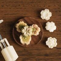Mooncake Mold 4pcs 3D Cherry Sakura Stamps Barrel Hand Press Moon Cake Pastry