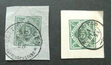 Germany-1893/1898-Two Five pf Postal Cut Outs