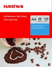 25 Sheets A4 135Gsm Self-adhesive Sticky high Glossy Photo Paper Inkjet Paper UK
