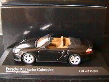 PORSCHE 911 996 TURBO S CABRIOLET 2003 DUNKELOLIVEGRUN METAL MINICHAMPS 1/43