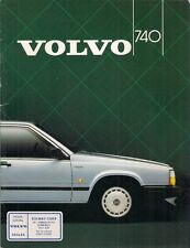 Volvo 740 Saloon 1984-85 UK Market Sales Brochure GL GLE GLT 700-Series