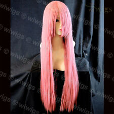Wiwigs Long Layered Milk Pink Straight Cosplay Skin Top Ladies Wig