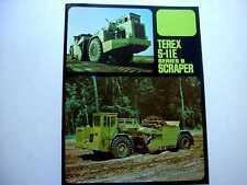 Terex S-11E Series B Scraper Literature