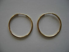 Gold Filled 18mm Endless Hoop Earrings New