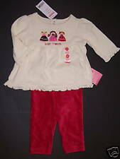 NWT Gymboree Peruvian Doll Velour Leggings & Best Friends Tee Top 3-6 Months