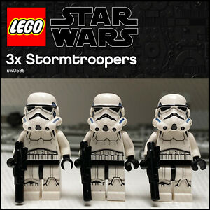 GENUINE LEGO Star Wars Minifigures 3 x Stormtroopers sw0585 Army Builder 75159