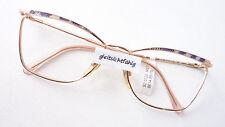 Large Cateye Glasses Frames for Women Metal Frame Vintage Gold/Purple Size M
