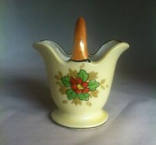 Vintage 1930's Hand Painted Made In Japan Lusterware Basket Floral Design